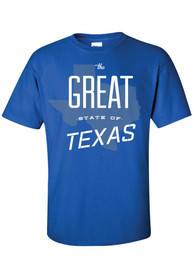 Texas Blue The Great State of Short Sleeve T Shirt