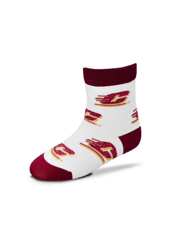 Central Michigan Chippewas Infant Allover Logo Toddler Quarter Socks - Image 1
