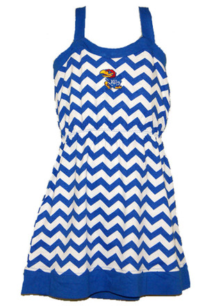 Kansas Jayhawks Girls Blue Skylar Dress