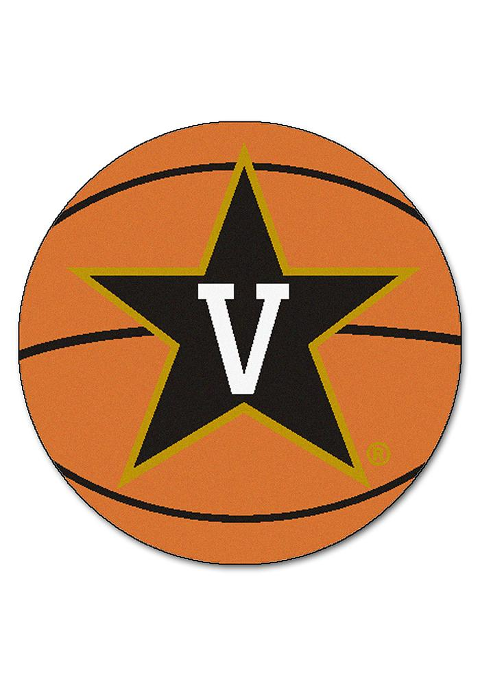 Vanderbilt Commodores 27` Basketball Interior Rug - Image 1