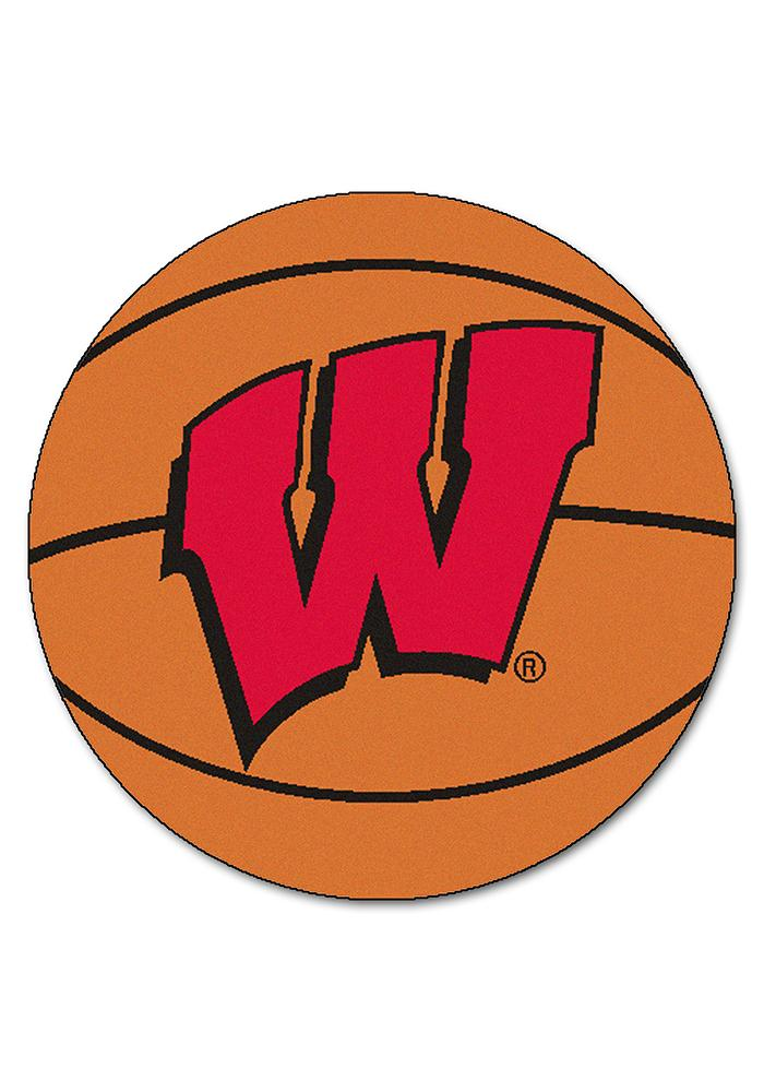 Wisconsin Badgers 27` Basketball Interior Rug - Image 1