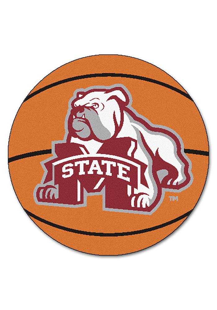 Mississippi State Bulldogs 27` Basketball Interior Rug - Image 1