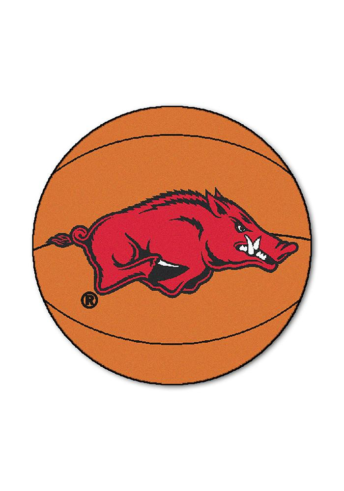Arkansas Razorbacks 27` Basketball Interior Rug - Image 1