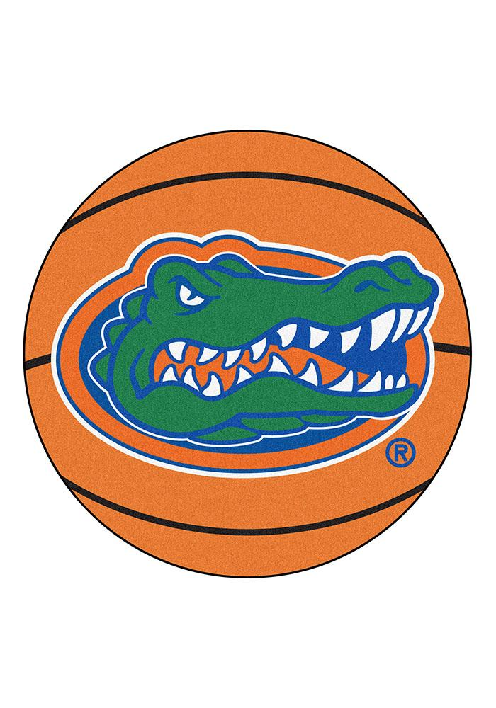Florida Gators 27` Basketball Interior Rug - Image 1