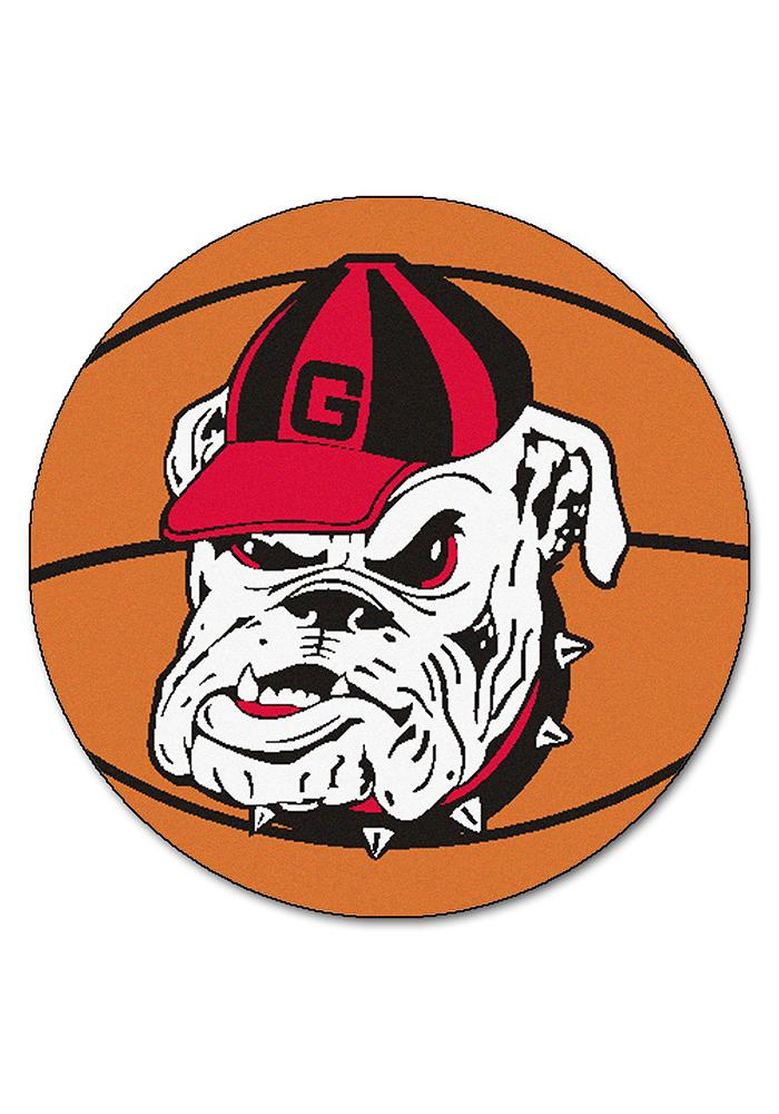 Georgia Bulldogs 27` Basketball Interior Rug - Image 1