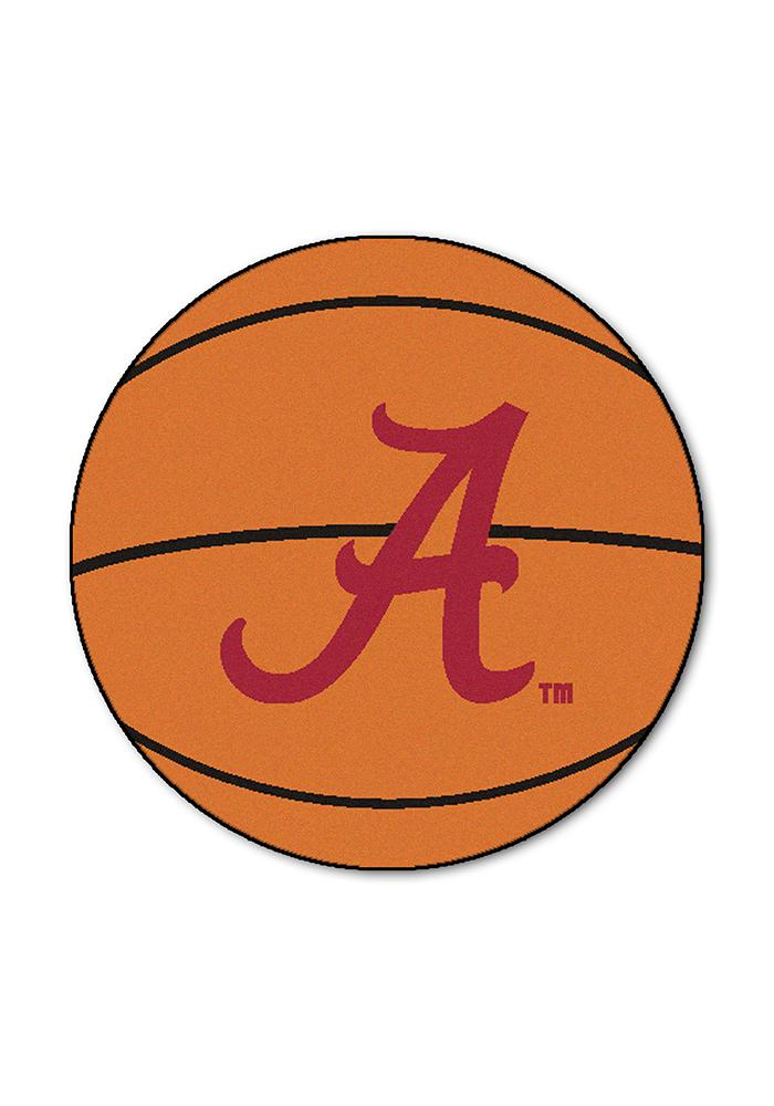 Alabama Crimson Tide 27` Basketball Interior Rug - Image 1