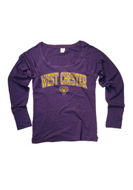 West Chester Golden Rams Juniors Cotton Jersey Purple Scoop Neck Tee