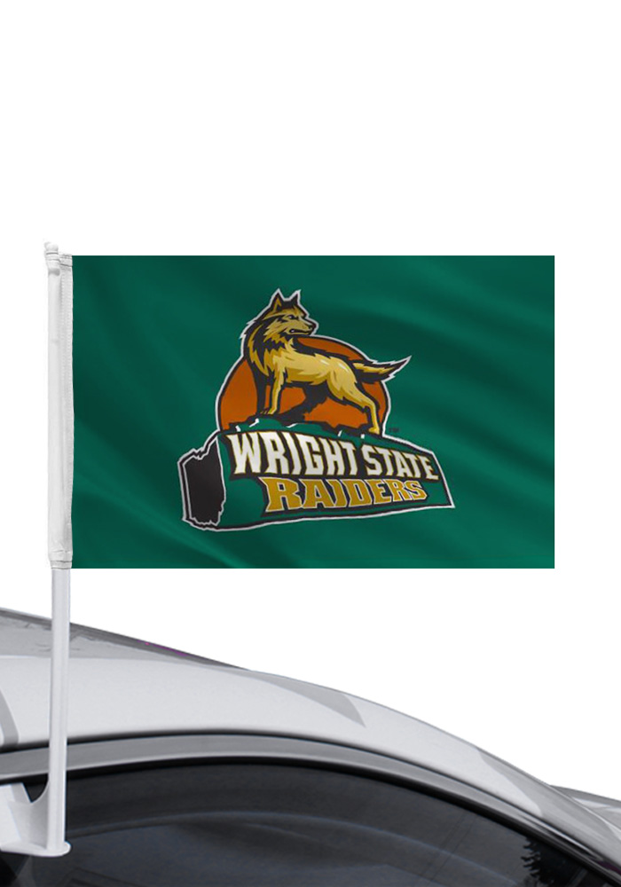 Wright State Raiders 11x16 Car Flag - Green - Image 1