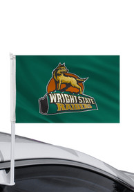 Wright State Raiders 11x16 Car Flag - Green