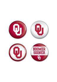 Oklahoma Sooners 1 1/4 4 Pack Button