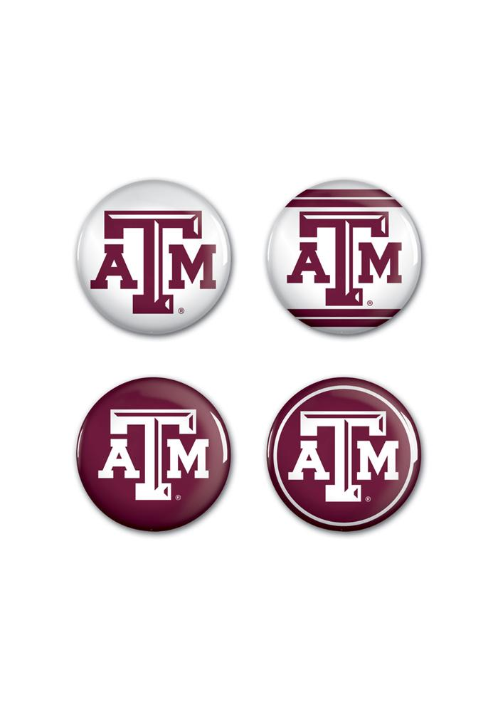 Texas A&M Aggies 1 1/4 4 Pack Button - Image 1