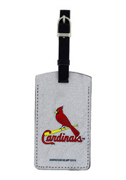 St Louis Cardinals Sparkle Luggage Tag - Red