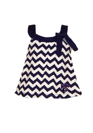 K-State Wildcats Toddler Girls Purple Skylar Dresses