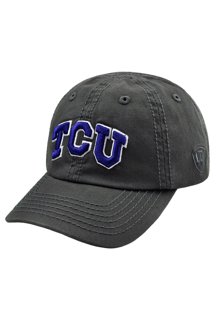 Top of the World TCU Horned Frogs Grey Crew Infant Adjustable Hat - Image 1