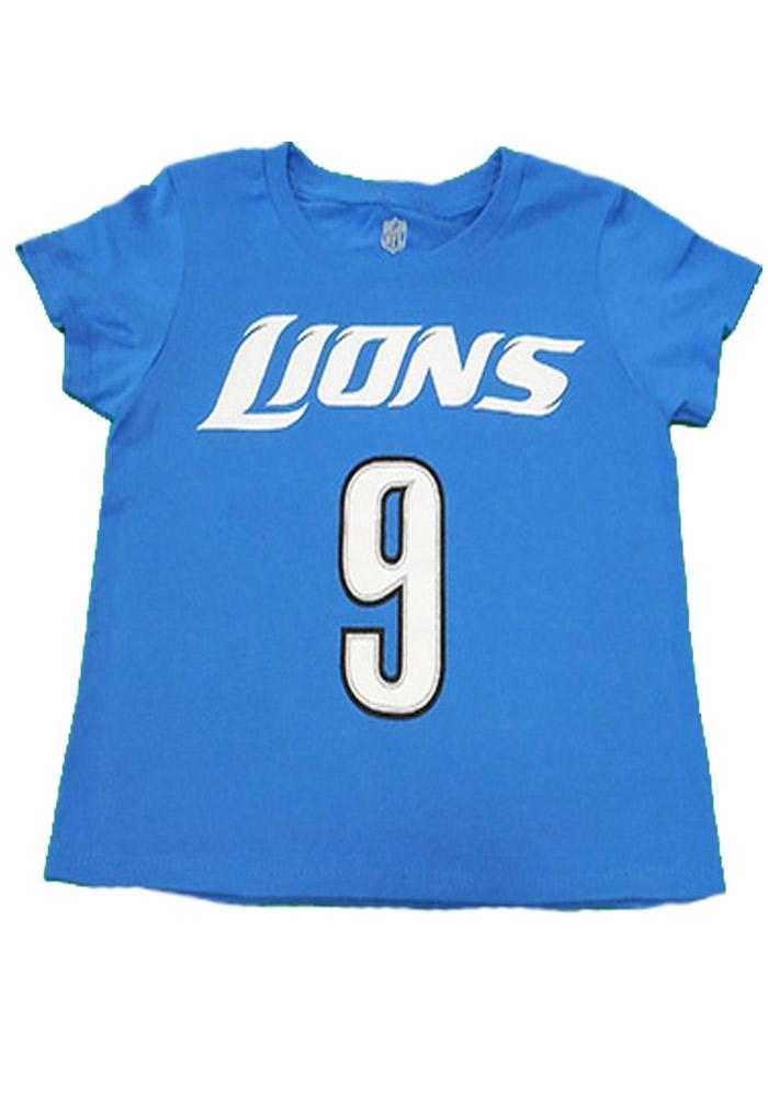 Matthew Stafford Detroit Lions Youth Blue Youth Matthew Stafford Player Tee - Image 2