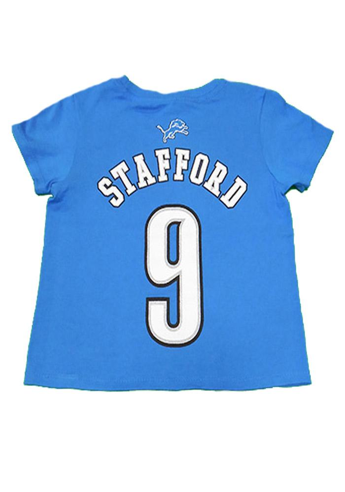 Matthew Stafford Detroit Lions Youth Blue Youth Matthew Stafford Player Tee - Image 3