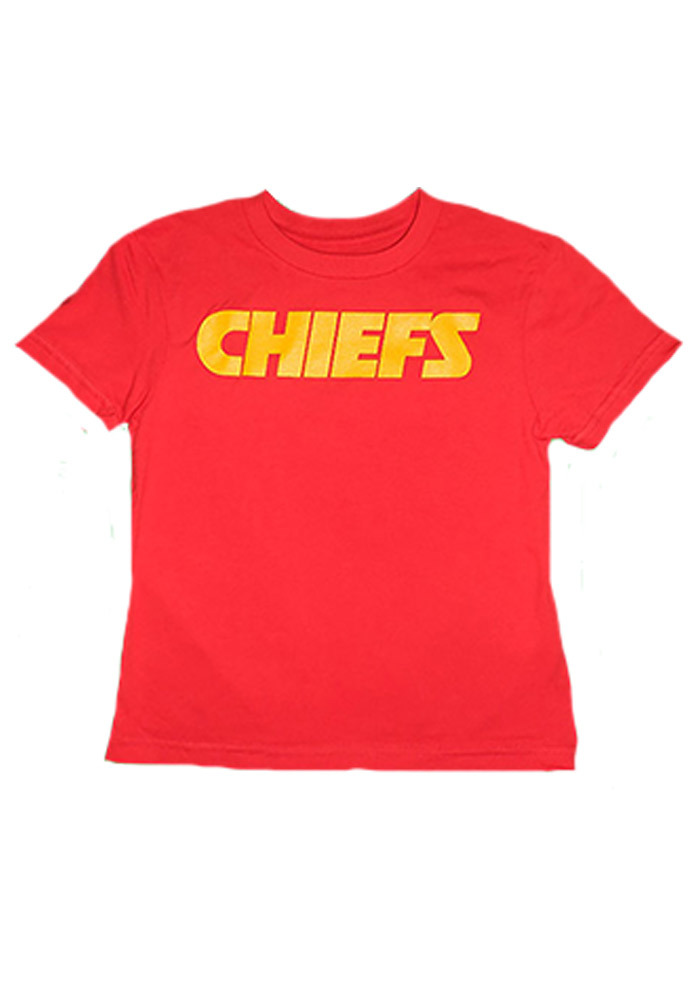 Kansas City Chiefs Youth Red Youth Rally Loud Short Sleeve T-Shirt - Image 1