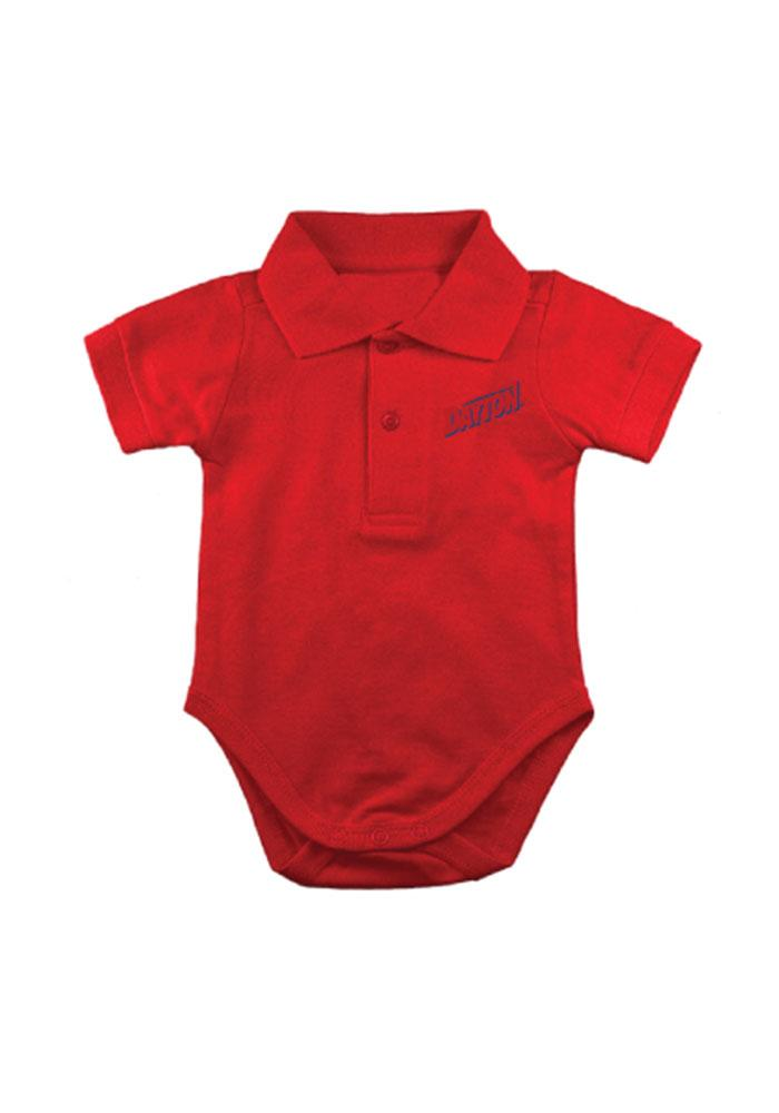 Dayton Flyers Baby Red Golf Short Sleeve Polo One Piece - Image 1
