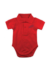 Dayton Flyers Baby Red Golf Polo One Piece