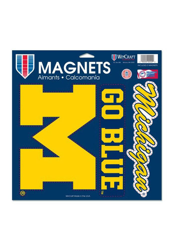 Michigan Wolverines 11x11 Multi Pack Car Accessory Car Magnet - Image 1