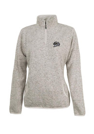 Western Michigan Broncos Womens Heather Oatmeal 1/4 Zip Pullover