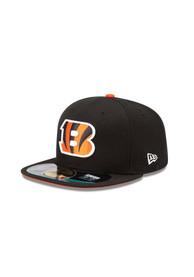 New Era Cincinnati Bengals Black Sideline 5950 Youth Fitted Hat