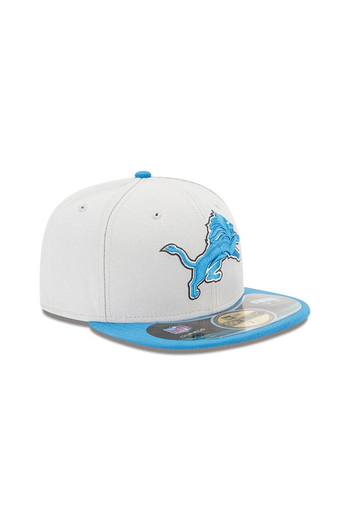 New Era Detroit Lions Grey Sideline 5950 Youth Fitted Hat - Image 3