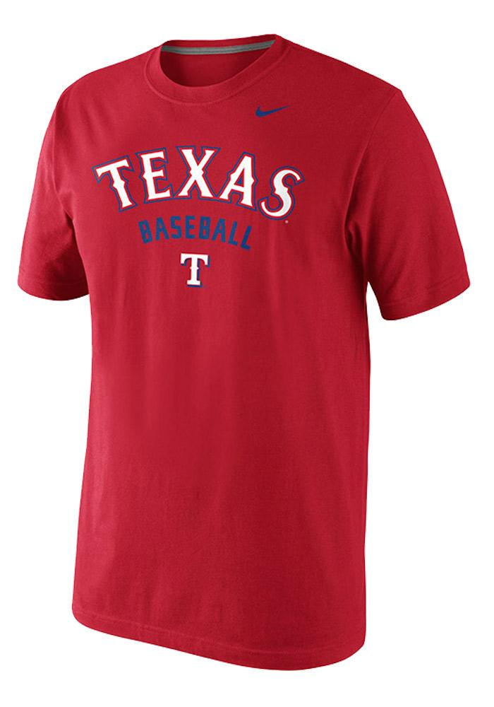 Nike Texas Rangers Mens Red Cotton Short Sleeve T Shirt - Image 1