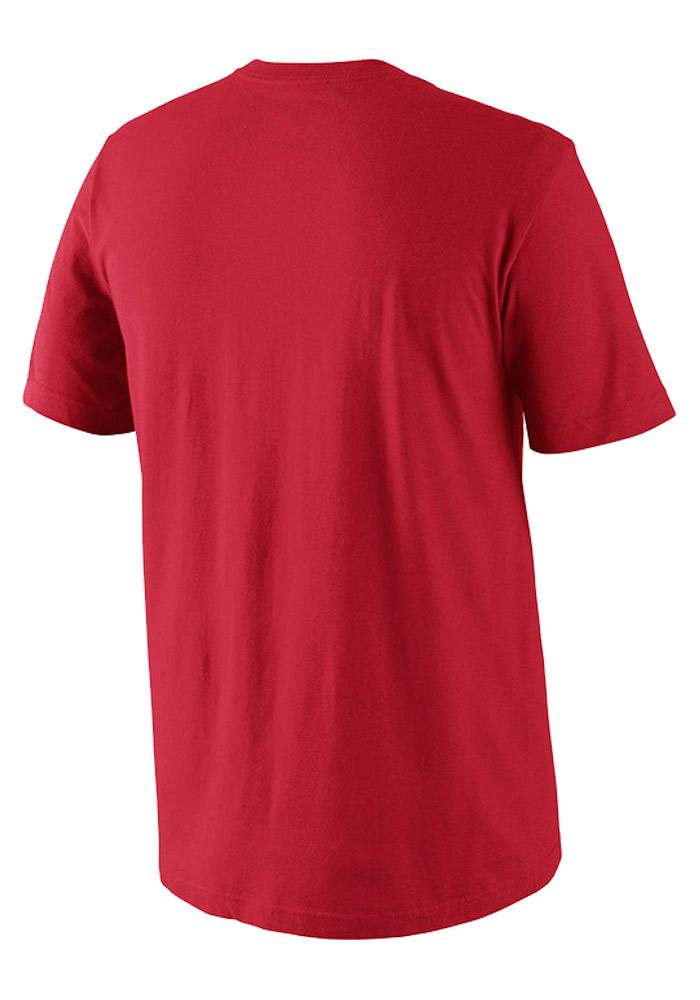 Nike Texas Rangers Mens Red Cotton Short Sleeve T Shirt - Image 2