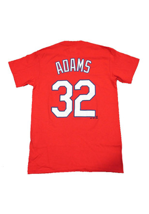 Matt Adams St Louis Cardinals Mens Red Name and Number Player Tee
