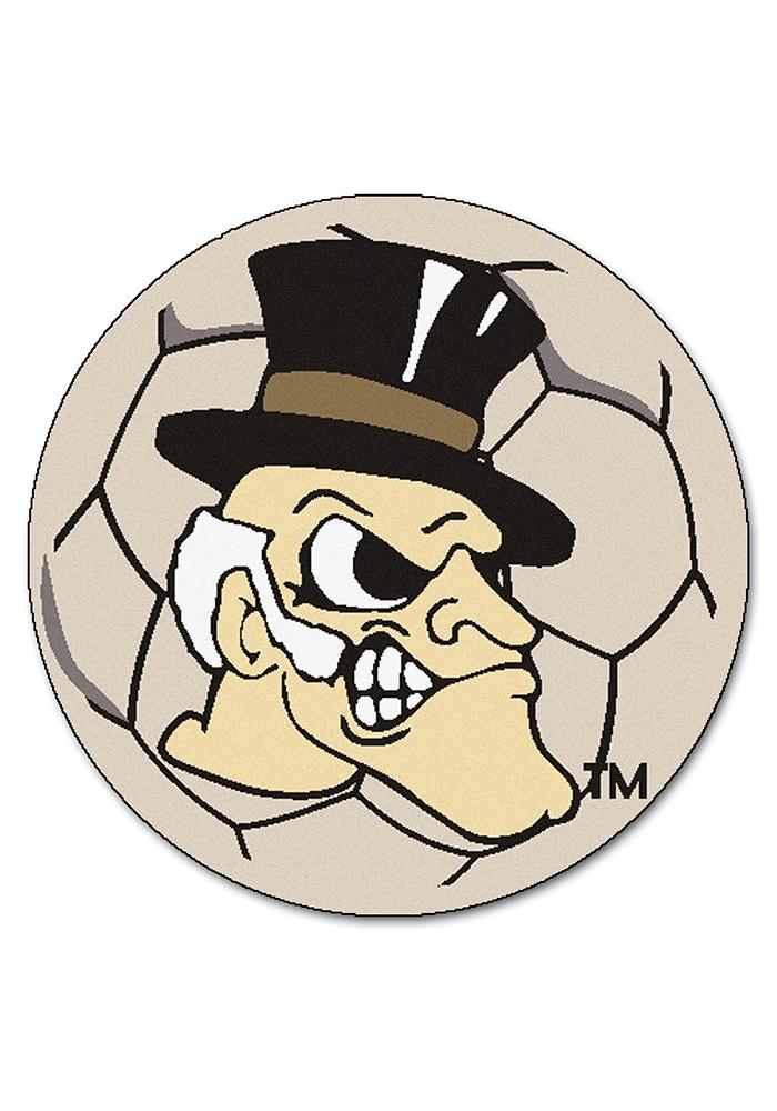 Wake Forest Demon Deacons 27 Inch Soccer Interior Rug - Image 1