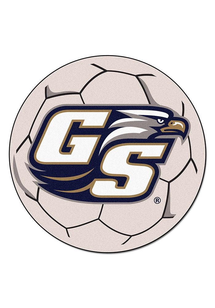 Georgia Southern Eagles 27 Inch Soccer Interior Rug - Image 1