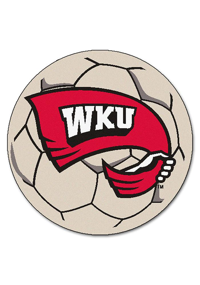 Western Kentucky 27 Inch Soccer Interior Rug - Image 1