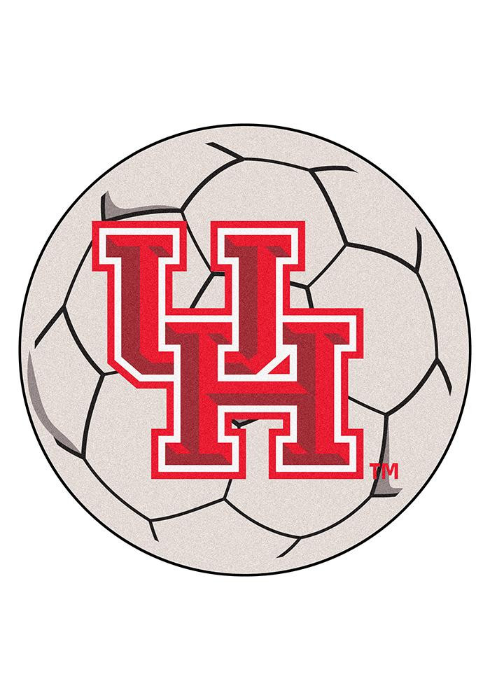 Houston Cougars 27 Inch Soccer Interior Rug - Image 1