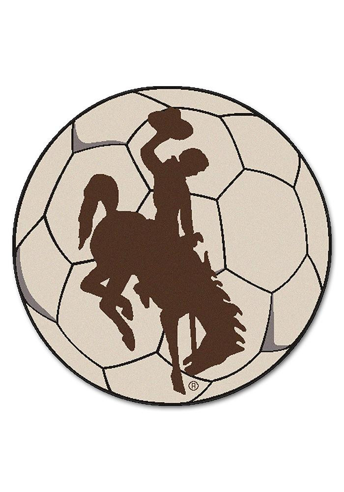 Wyoming Cowboys 27 Inch Soccer Interior Rug - Image 1