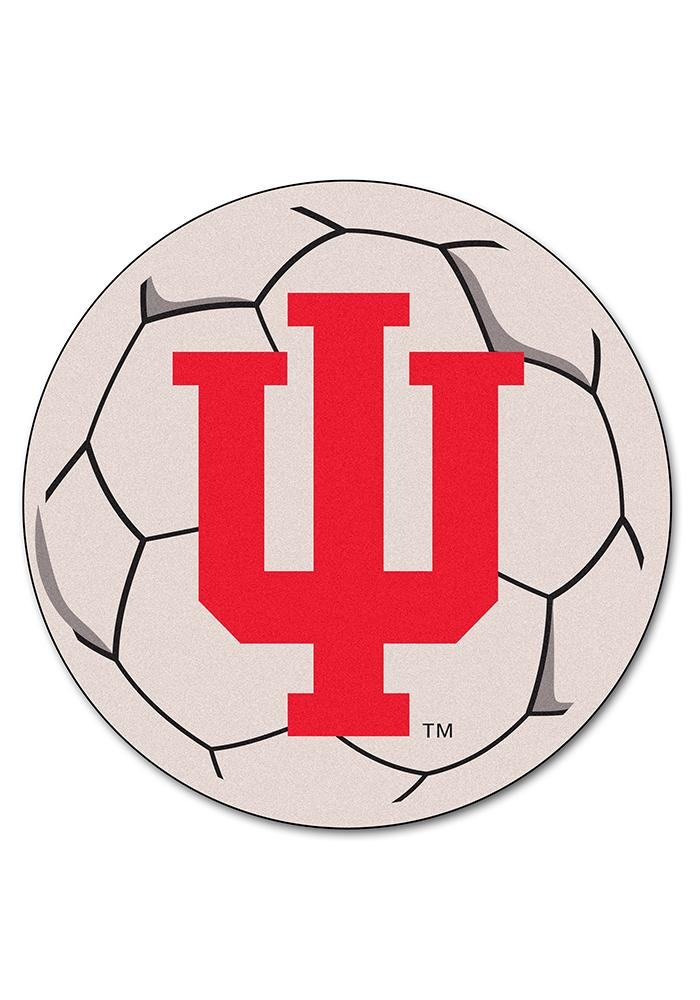 Indiana Hoosiers 27 Inch Soccer Interior Rug - Image 1