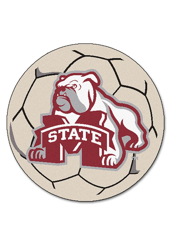 Mississippi State Bulldogs 27 Inch Soccer Interior Rug - Image 1