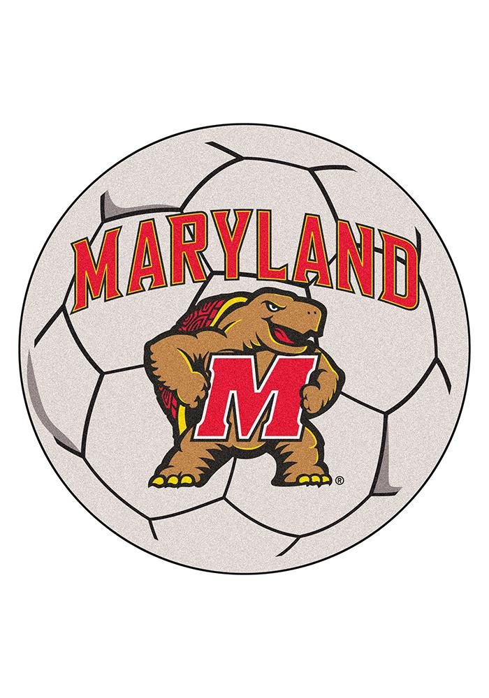 Maryland Terrapins 27 Inch Soccer Interior Rug - Image 1