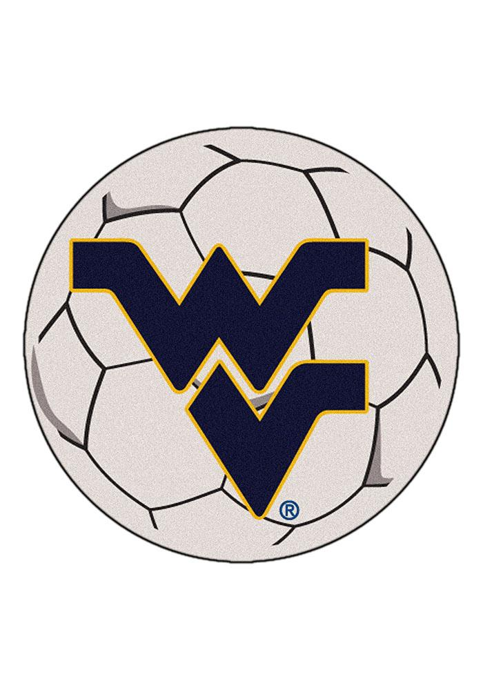 West Virginia Mountaineers 27 Inch Soccer Interior Rug - Image 1