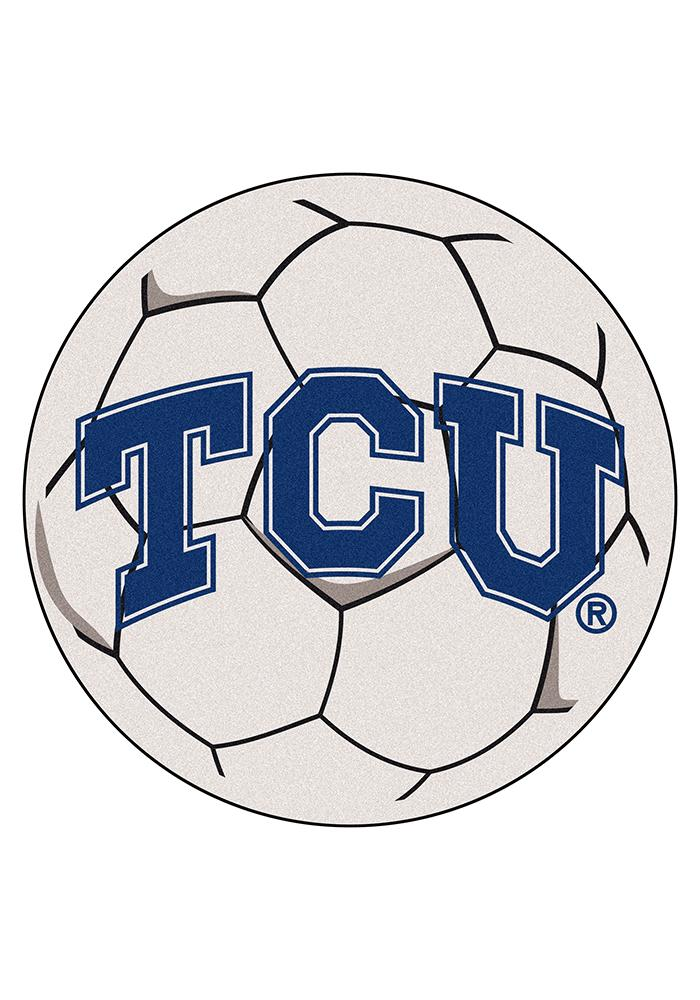 TCU Horned Frogs 27 Inch Soccer Interior Rug - Image 1