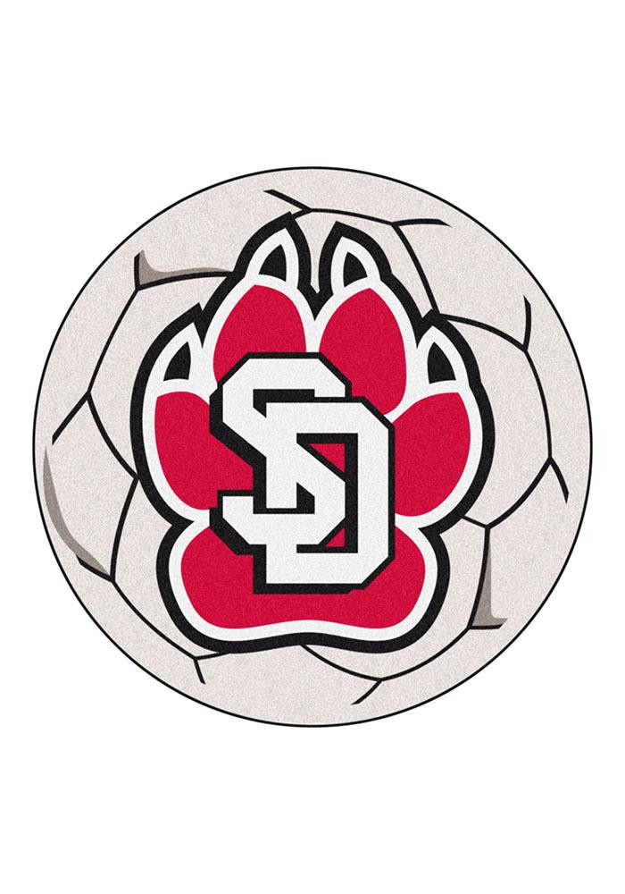 South Dakota Coyotes 27 Inch Soccer Interior Rug - Image 1