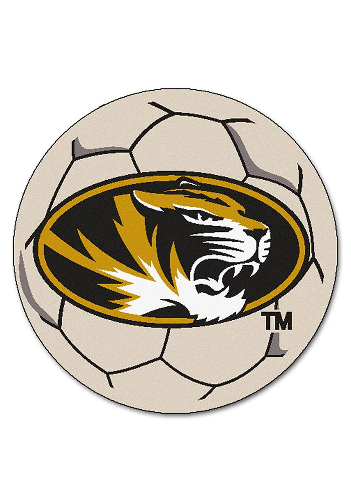 Missouri Tigers 27 Inch Soccer Interior Rug - Image 1