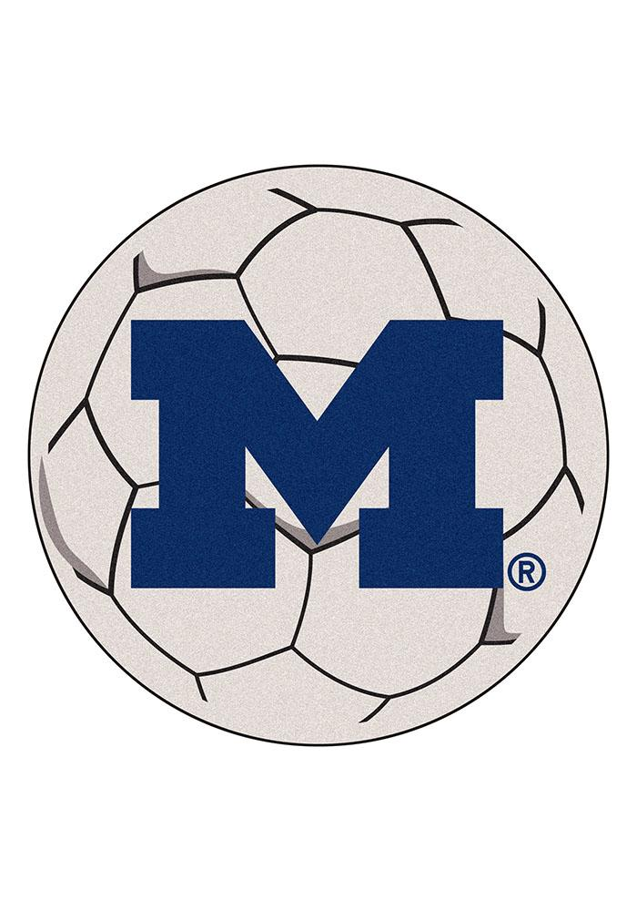 Michigan Wolverines 27 Inch Soccer Interior Rug - Image 1