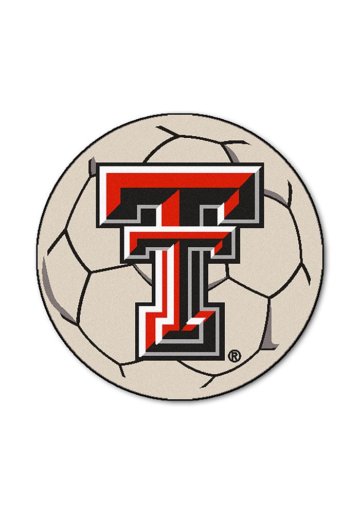 Texas Tech Red Raiders 27 Inch Soccer Interior Rug - Image 1