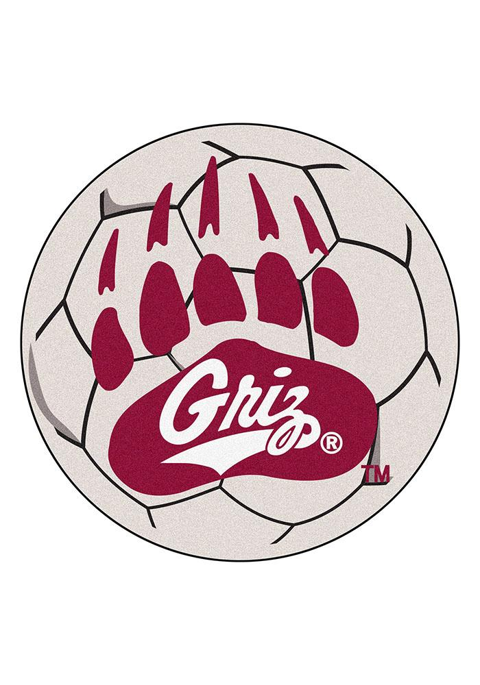 Montana Grizzlies 27 Inch Soccer Interior Rug - Image 1