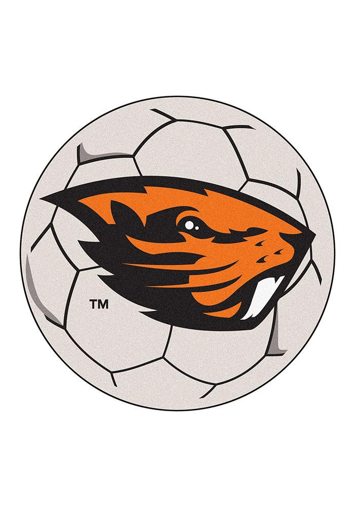 Oregon State Beavers 27 Inch Soccer Interior Rug - Image 1