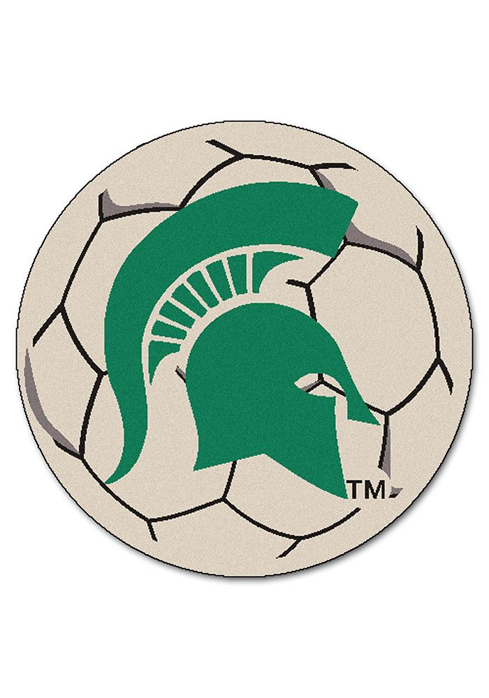 Michigan State Spartans 27 Inch Soccer Interior Rug - Image 1