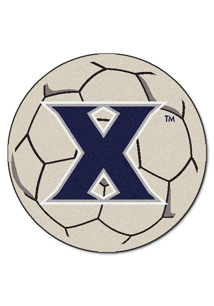 Xavier Musketeers 27 Inch Soccer Interior Rug - Image 1