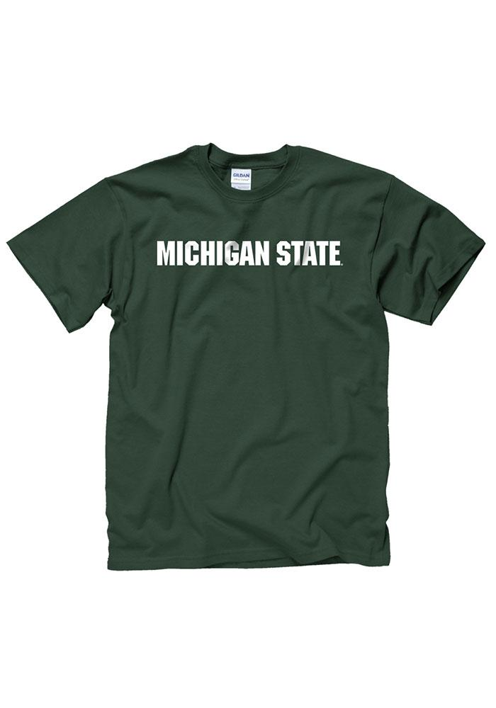 Michigan State Spartans Mens Green Rally Loud Short Sleeve T Shirt - Image 1
