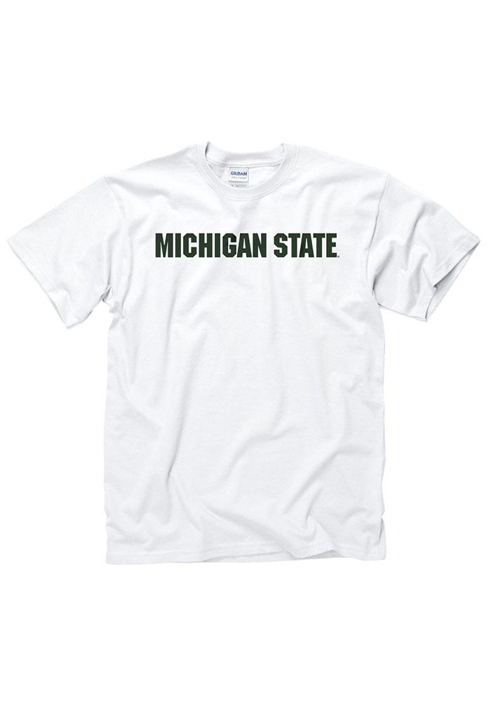 Michigan State Spartans White Rally Loud Short Sleeve T Shirt - Image 2